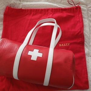 Rare Bally Red and White Calf Medical Bag